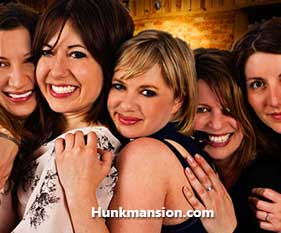 Hunk Mansion Girls Night Out Party